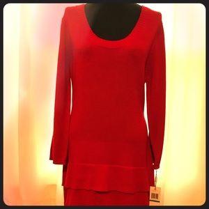 Calvin Klein Red Knit Dress
